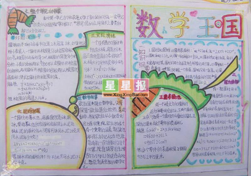 初中数学手抄报_数学王国