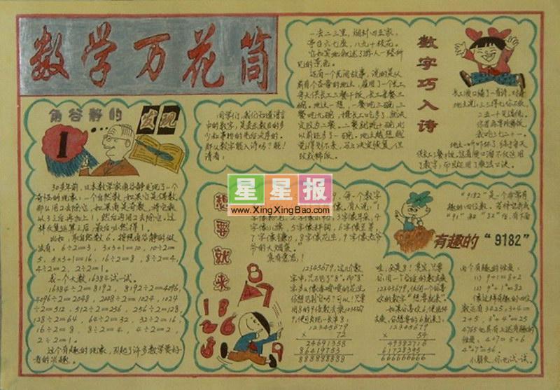英语作文手抄报,经典黑板报版面设计图:玛丽游戏,语言艺术手抄报——