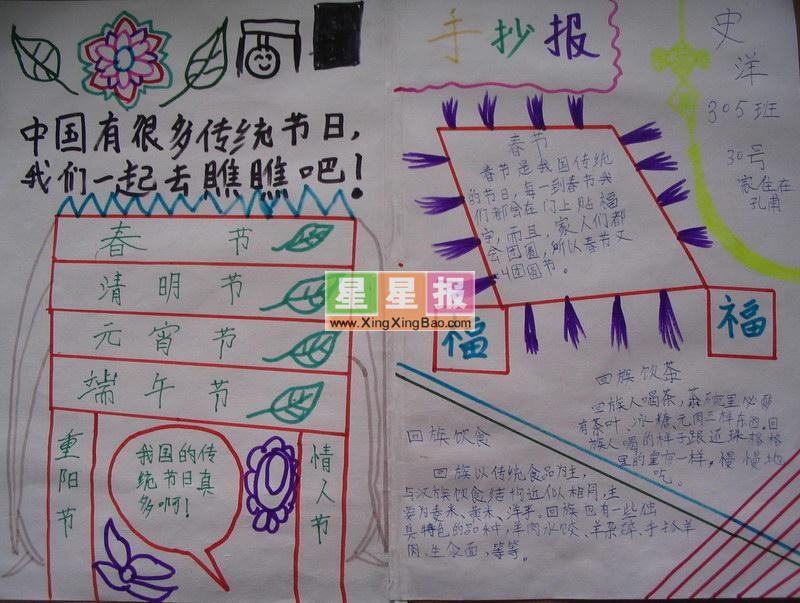 中国文化手抄报(节日篇)