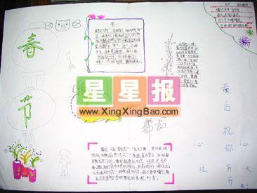 初中英语春节小报 春节小报图片(一年级作品)  类 别:  春节手抄报
