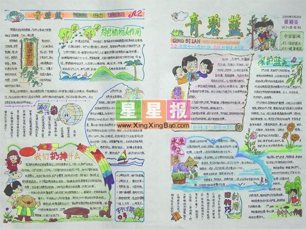 小学生环保手抄报版面设计图欣赏