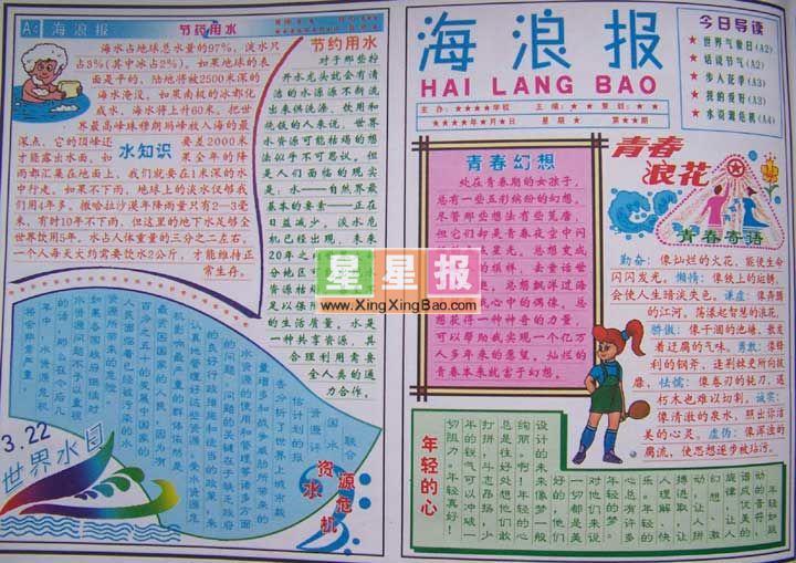 关于春节的手抄报图片3张 星星报