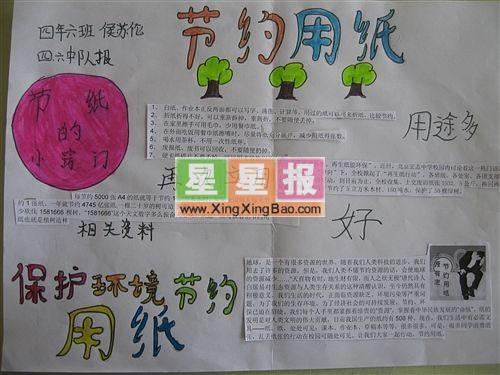 保护环境节约用纸手抄报