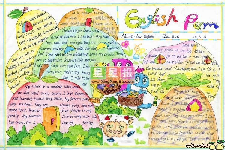 蔬菜世界_小学生英语手抄报-我的梦想英语手抄报-搜e