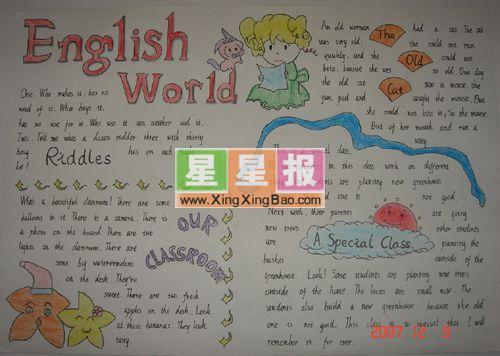 英语手抄报内容《english world》