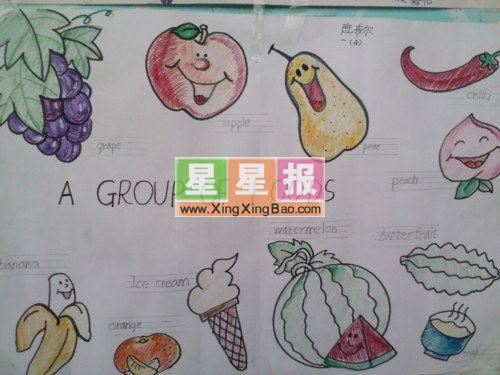 蔬菜天地英语小抄报图片