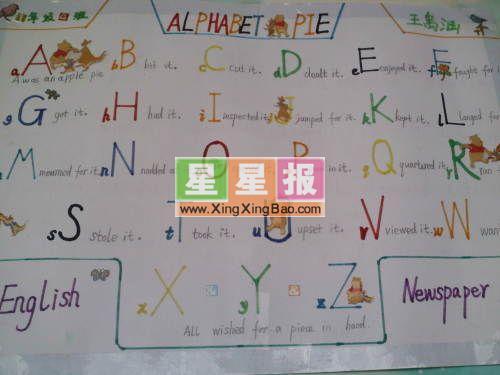 小学生英语手抄报版面设计