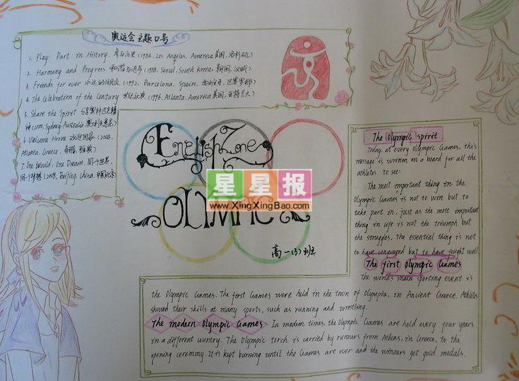 四年级英语手抄报怎么做