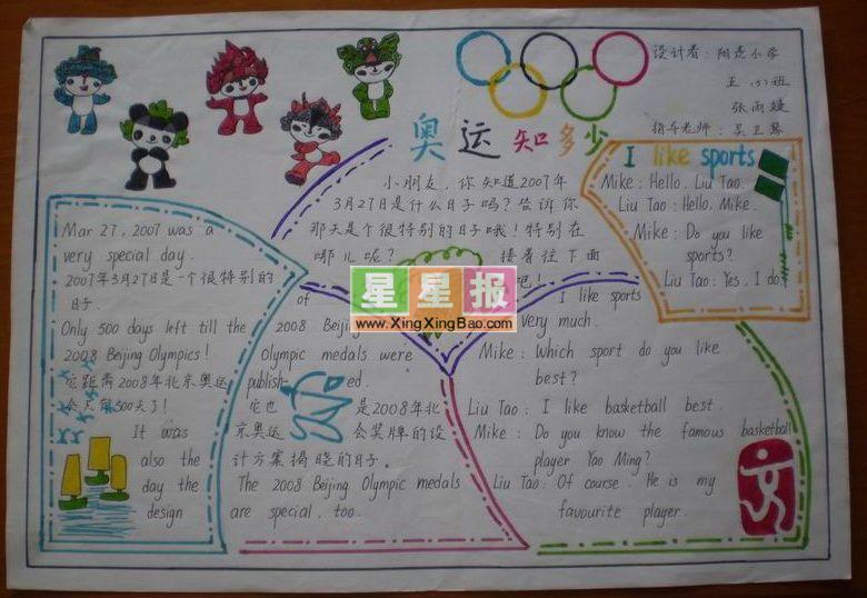 2012奥运知识英语手抄报