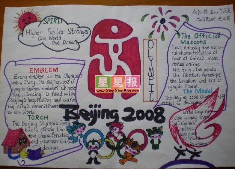 小学生英语手抄报《奥运主题》