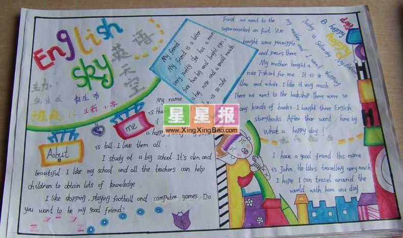小学生英语手抄报图片《英语天地》