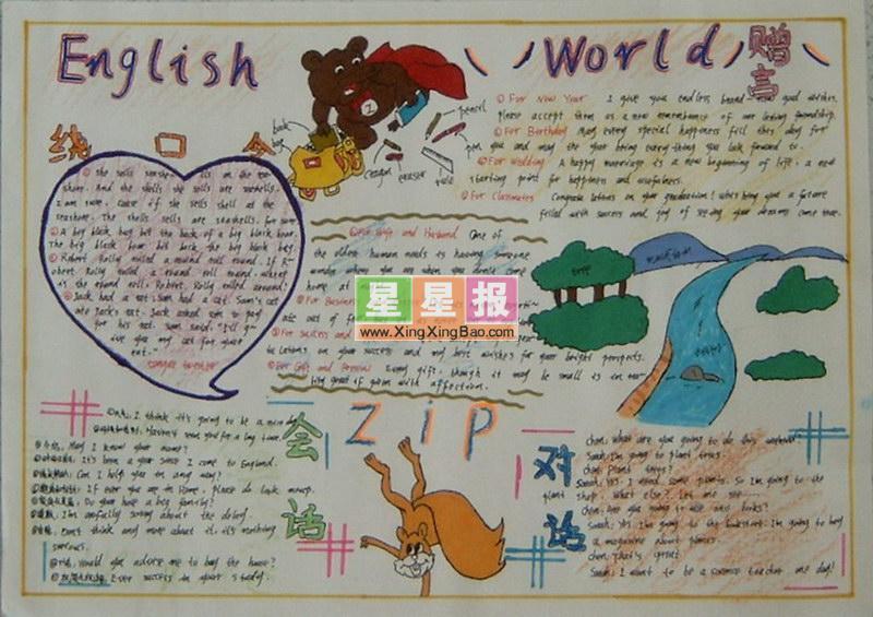 Enlish Word 主题手抄报设计