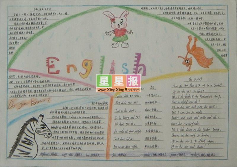 初中英语手抄报精美版面设计