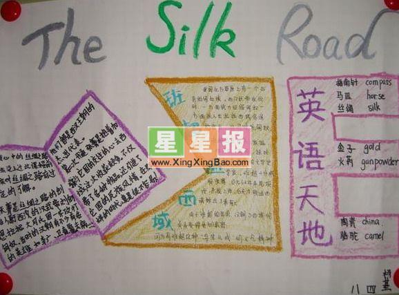 TheSilkRoad英语手抄报设计