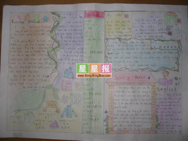 六年级动漫国庆小报