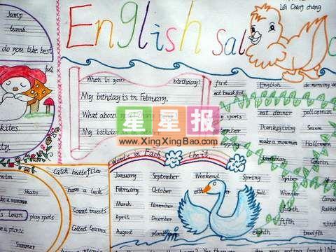 本站推荐小学生绘画小报图片