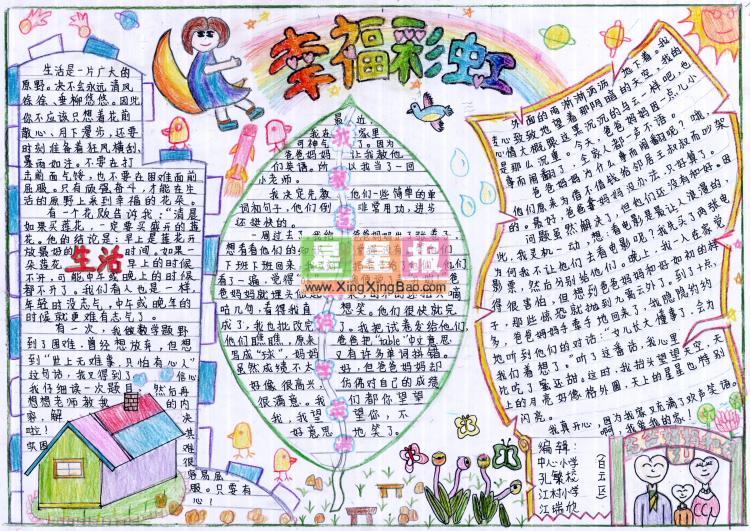 小小英语手抄报,《dearmon》六年级英语小抄报,高中手抄报内容图片