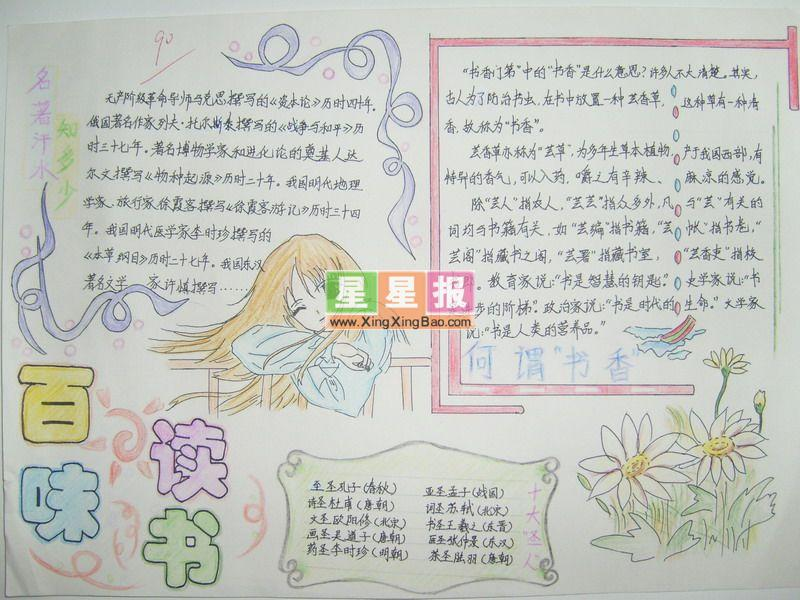 小学生语文手抄报设计图