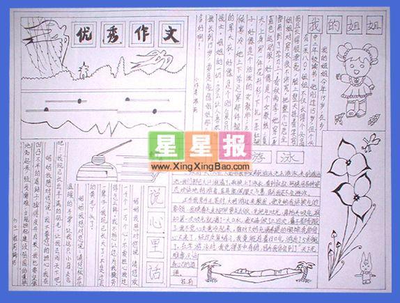 英语手抄报简单又好看 食物卡通 网文快讯,网文快捕,网文精彩,经图片