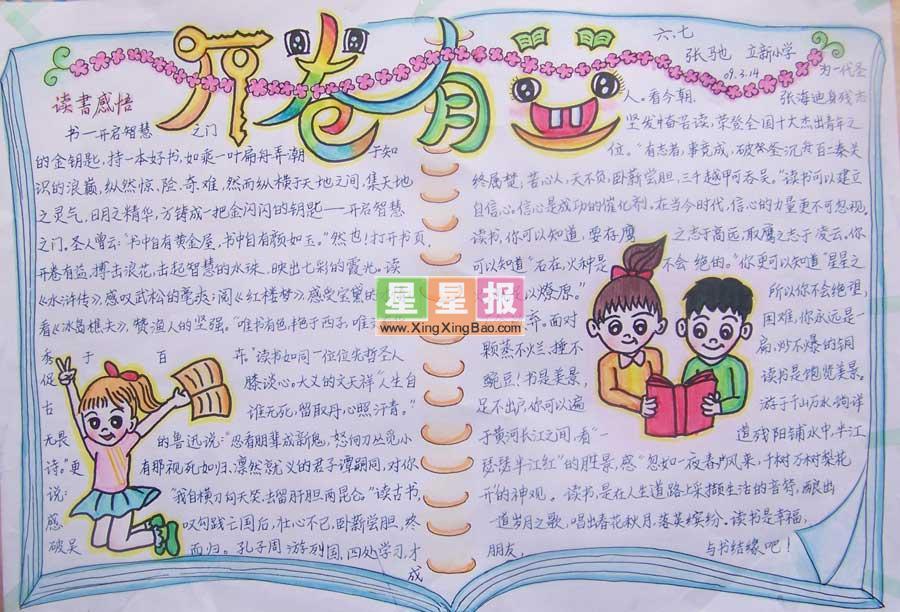 小学生有关学习的手抄报图片_关于读书的手抄报图片_手抄报大全