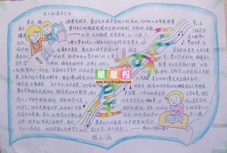 三味书屋手抄报设计(漂亮报头)
