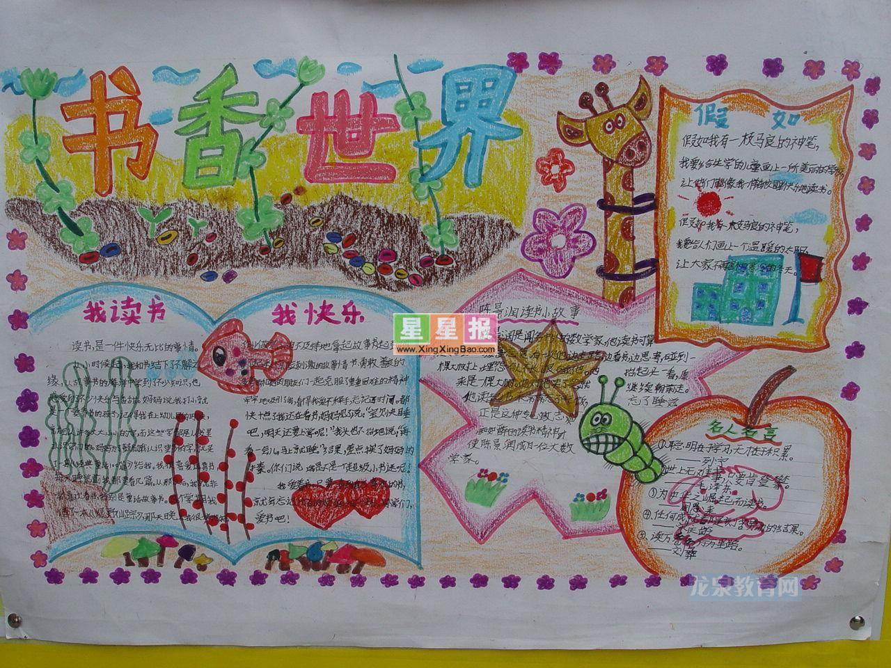书香世界手抄报版面设计图