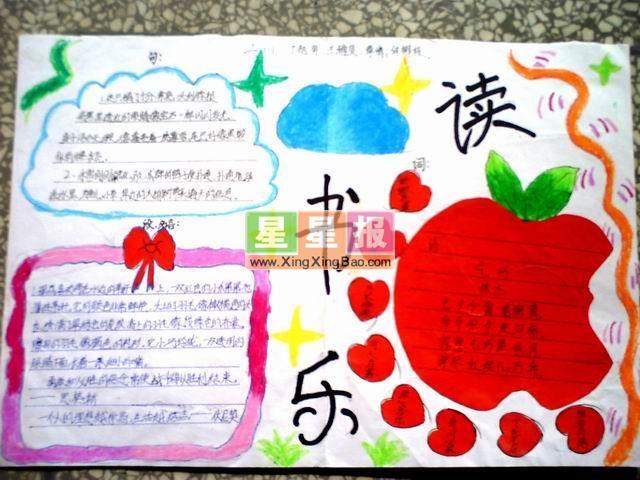 三年级读书手抄报作品 红苹果插图
