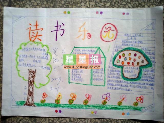 小学生阅读手抄报:读书乐园