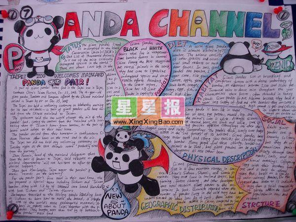 高中英语手抄报 Panda Channel