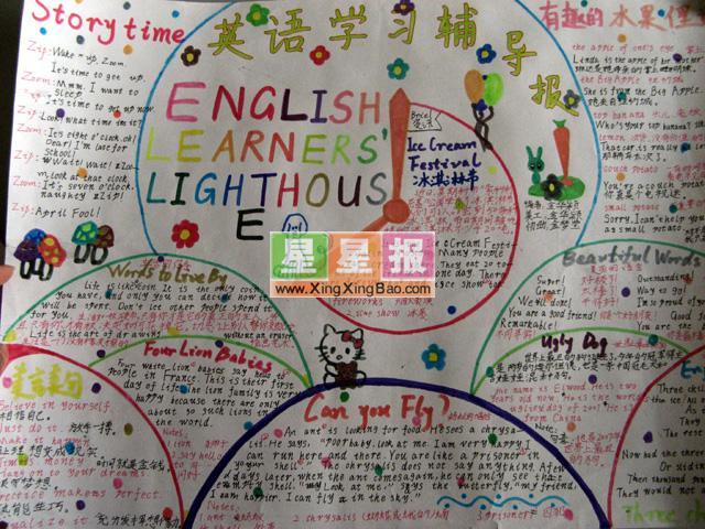 英语学习主题手抄报