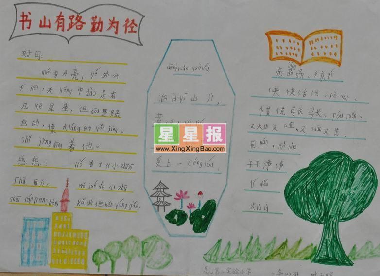 小学生学习手抄报:书山有路勤为径