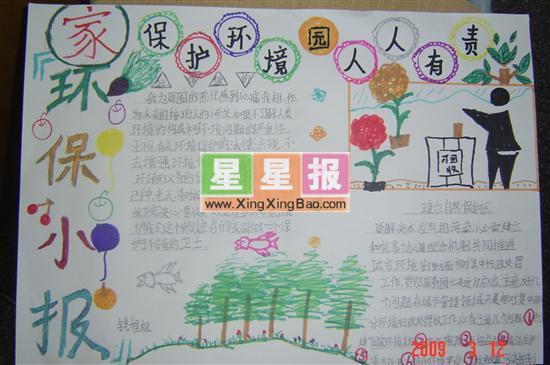 爱护环境手抄报(小学生制作)